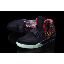 Nike Yeezy 2 черный в цветы